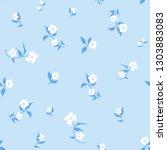 cute floral seamless pattern... | Shutterstock . vector #1303883083
