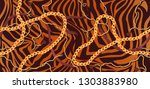 striped texture with tiger fur... | Shutterstock .eps vector #1303883980