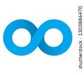 infinity icon vector. | Shutterstock .eps vector #1303886470