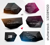Labels vector set, modern style. Abstract black design bubbles collection, vector.