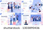 flat design  web page template... | Shutterstock .eps vector #1303890436