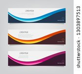 vector abstract banner design... | Shutterstock .eps vector #1303897513