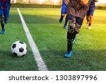 children's football training...   Shutterstock . vector #1303897996