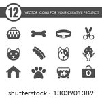 pets icon set. pets web icons...   Shutterstock .eps vector #1303901389