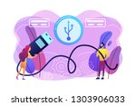 businessman and woman choosing... | Shutterstock .eps vector #1303906033