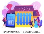 businesswoman controlling smart ... | Shutterstock .eps vector #1303906063