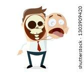 creepy cartoon illustration of... | Shutterstock .eps vector #1303909420