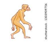 vector cute brown monkey... | Shutterstock .eps vector #1303909756
