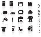 household kitchen aplliance... | Shutterstock .eps vector #130391360
