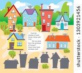 logic kid find house form game... | Shutterstock .eps vector #1303921456