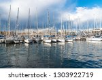 port with yachts in barcelona ... | Shutterstock . vector #1303922719