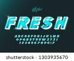 """fresh"" vector  typeface bold... | Shutterstock .eps vector #1303935670"