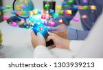 hand touch screen smartphone.... | Shutterstock . vector #1303939213