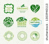 organic food labels and... | Shutterstock .eps vector #1303940113