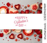 valentine's day background with ... | Shutterstock . vector #1303943989
