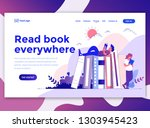 landing page template of read... | Shutterstock .eps vector #1303945423