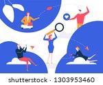 dating app   flat design style... | Shutterstock .eps vector #1303953460