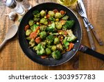 grilled vegetables from the pan | Shutterstock . vector #1303957783