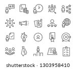 set of job seach icons  such as ... | Shutterstock .eps vector #1303958410