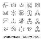 set of business people icons ... | Shutterstock .eps vector #1303958923