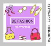 fashion blogging social media... | Shutterstock .eps vector #1303961563