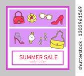 summer collection sale social... | Shutterstock .eps vector #1303961569