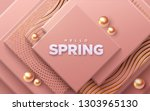 hello spring. modern cover... | Shutterstock .eps vector #1303965130