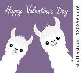 happy valentines day. llama... | Shutterstock .eps vector #1303965559