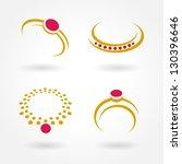 jewelry simple set   Shutterstock .eps vector #130396646