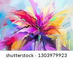 abstract colorful oil  acrylic... | Shutterstock . vector #1303979923