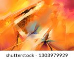 abstract colorful oil  acrylic... | Shutterstock . vector #1303979929