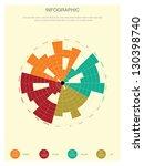 retro infographics set. | Shutterstock .eps vector #130398740