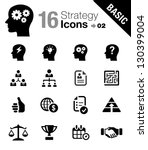 basic    business strategy and... | Shutterstock .eps vector #130399004
