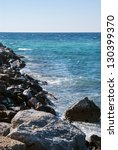 beautiful waves as background... | Shutterstock . vector #130399370