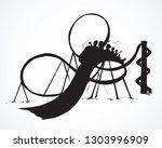 big fear round railroad symbol... | Shutterstock .eps vector #1303996909