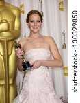 jennifer lawrence at the 85th... | Shutterstock . vector #130399850