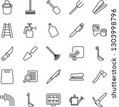 thin line icon set   document...   Shutterstock .eps vector #1303998796