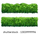 green fence rectangular boxwood ... | Shutterstock .eps vector #1303999996