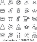 thin line icon set   spoon and... | Shutterstock .eps vector #1304002360