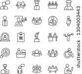 thin line icon set   dispatcher ... | Shutterstock .eps vector #1304003443