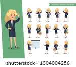 businesswoman character set.... | Shutterstock .eps vector #1304004256