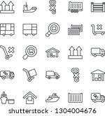 thin line icon set   sea...   Shutterstock .eps vector #1304004676