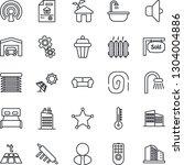 thin line icon set   garage...   Shutterstock .eps vector #1304004886