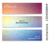 set of three multi colored... | Shutterstock .eps vector #1304008849