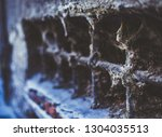 old window with lattice in... | Shutterstock . vector #1304035513