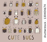 cute bugs        vector set in... | Shutterstock .eps vector #130404674
