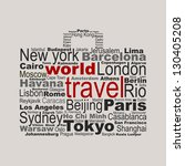 world travel concept made with... | Shutterstock .eps vector #130405208