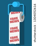 fake news conceptual design... | Shutterstock .eps vector #1304052616