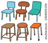 vector set of chair | Shutterstock .eps vector #1304055190