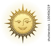 ethnic laughing sun   Shutterstock .eps vector #130406219